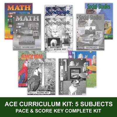 ACE Comprehensive Curriculum (5 Subjects), Single Student Complete PACE & Score Keys Kit, Grade 9, 3rd Edition  -