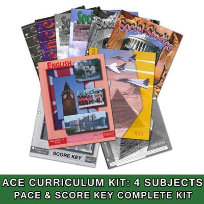 ACE Core Curriculum (4 Subjects), Single Student Complete PACE & Score Keys Kit, Grade 12, 3rd Edition  -