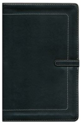 NIV Thinline Bible, leather Bound, Black   -