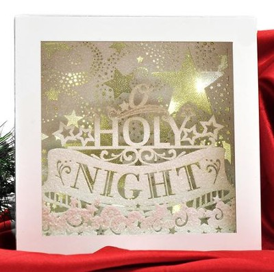 Oh Holy Night Lighted Box  -