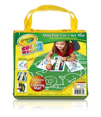 Crayola, Color Wonder Mess Free 2-in-1 Art Tote  -