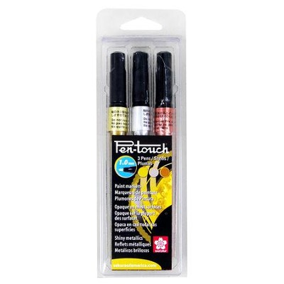 Pen-Touch Paint Marker 1MM, Set of 3, Assorted Colors  -