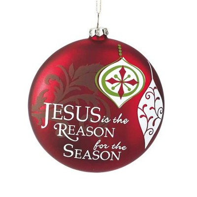 Jesus is the Reason for the Season Ornament, Red  -