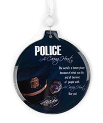 A Caring Heart Police Ornament  -