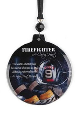A Caring Heart Firefighter Ornament  -
