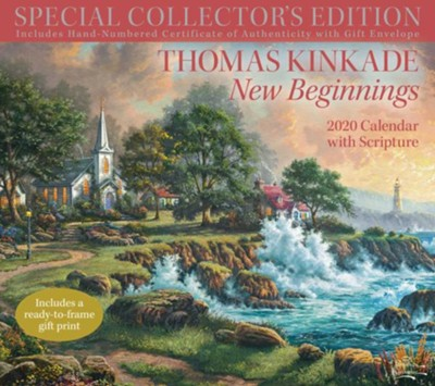 New Beginnings--2020 Special Collector's Edition Deluxe Wall Calendar  -     By: Thomas Kinkade