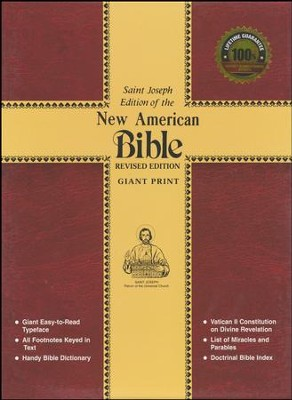 St. Joseph New American Bible (Giant Type Edition) Red Cloth  -