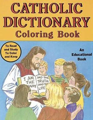 Catholic Dictionary Coloring Book  -