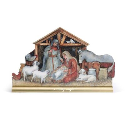 O Holy Night Nativity Scene Mantel Figurine  -