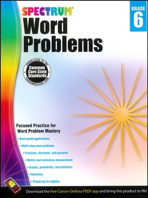 Spectrum Word Problems Grade 6  -