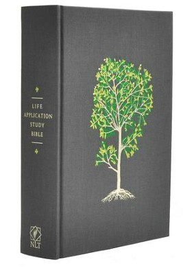 NLT Life Application Study Bible, Grey Cloth Over Board with Slipcase  -