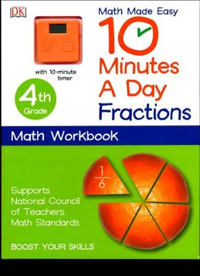 10 Minutes a Day: 4th Grade Fractions  -