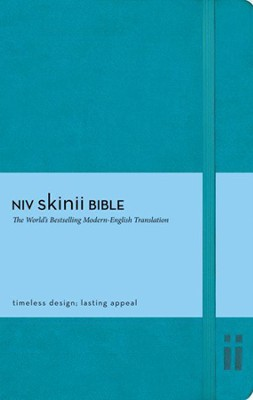 NIV Skinii Bible, Italian Duo-Tone, Turquoise - Imperfectly Imprinted Bibles  -     By: Zondervan