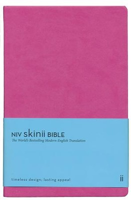 NIV Skinii Bible, Italian Duo-Tone, Pink - Imperfectly Imprinted Bibles  -     By: Zondervan