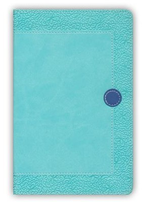 NIV Homeschool Mom's Bible Compact: Daily Personal Encouragement, Italian Duo-Tone, Turquoise/Blueberry  -
