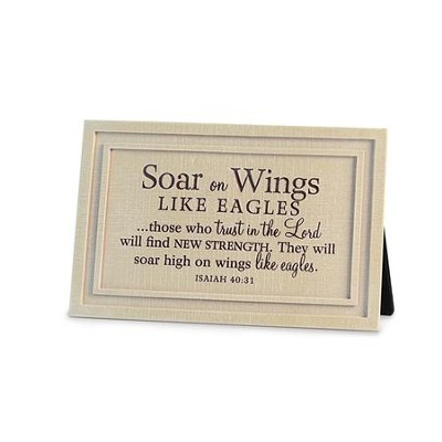 Soar On Wings Like Eagles Plaque  -