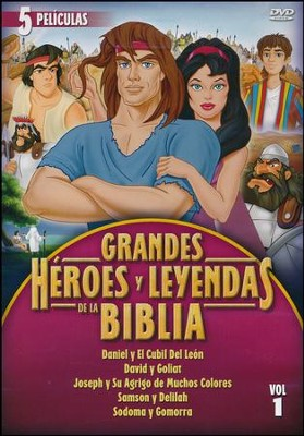 Grandes Héroes y Leyendas de la Biblia Vol. 1  (Greatest Heroes and Legends of the Bible Vol.1), 2-DVD Set  -