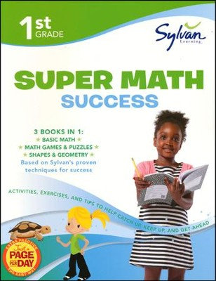 First Grade Super Math Success (Sylvan Super Workbooks)  -     By: Sylvan Learning