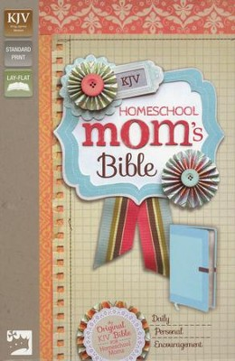 KJV Homeschool Mom's Bible, Italian Duo-Tone, Cornflower Blue  -