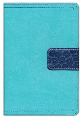 NIV Thinline Bible Compact, Italian Duo-Tone, Italian Duo-Tone, Turquoise/Blueberry  -     By: Zondervan