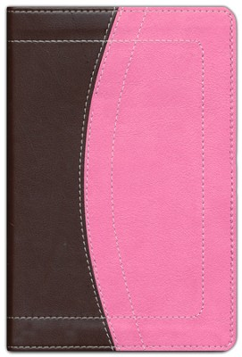 NIV Thinline Bible Compact, Italian Duo-Tone, Chocolate/Pink - Slightly Imperfect  -