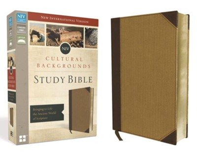 NIV Cultural Backgrounds Study Bible, Imitation Leather, Brown/Tan  -     By: Craig Keener, John Walton