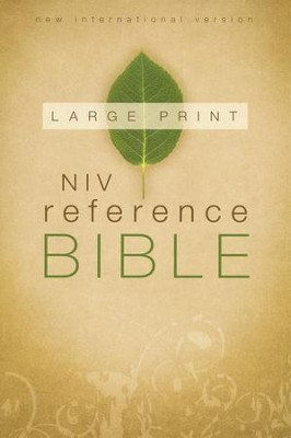 NIV Reference Bible, Large Print, Hardcover, Jacketed Printed  -     By: Zondervan