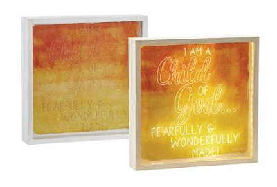 I Am a Child of God Fearfully & Wonderfully Made Lightbox  -