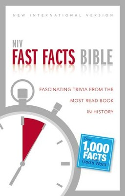 NIV Fast Facts Bible: Fascinating Trivia from the Most Read Book in History, Black  -