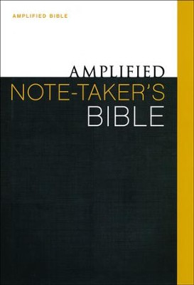 Amplified Note Taker's Bible, Hardcover   -