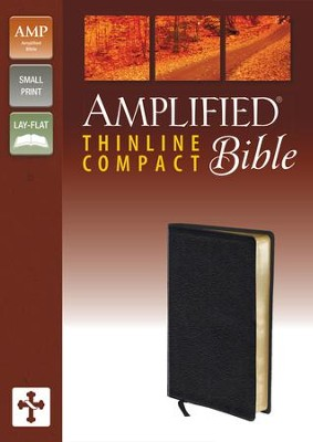 Amplified Thinline Bible Compact, Black  -