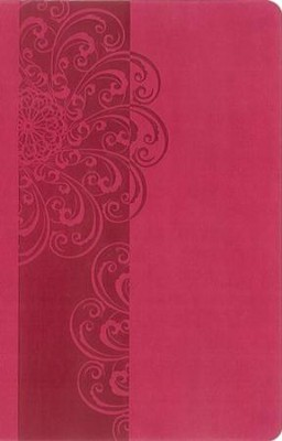 NKJV ReadEasy Bible, Compact Edition--soft leather-look, hot pink  -