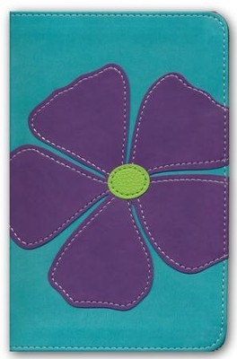 NKJV Bloom Collection Bible Compact, Italian Duo-Tone, Periwinkle Flax  -