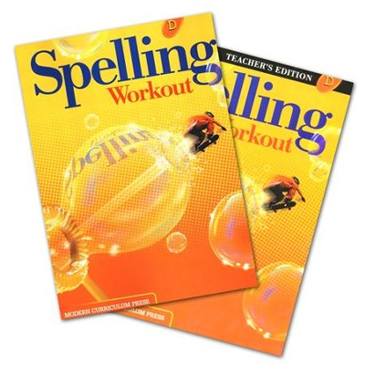 Modern Curriculum Press Spelling Workout Grade 4 Homeschool Bundle (2002 Edition)  -
