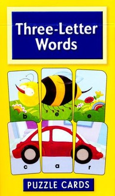 Three-Letter Words Puzzle Cards   -     By: Homeschool