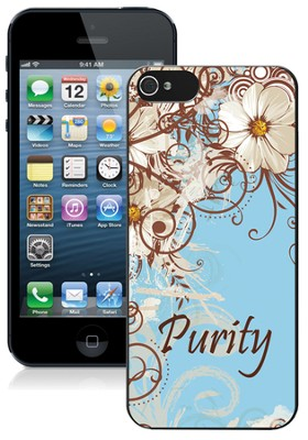 Purity iPhone 5 Case, White Flower  -