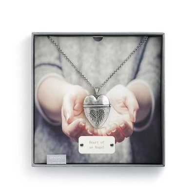 Angel, Story Heart Pendant  -