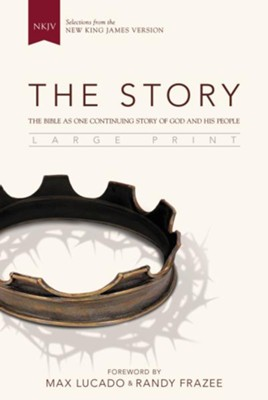 The Story, NKJV, Large Print: The Bible as One Continuing Story of God and His People, Black  -