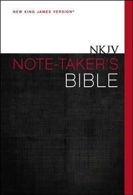 NKJV Note-Taker's Bible, Hardcover  -