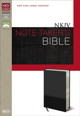 NKJV Note-Taker's Bible, Italian Duo-Tone Charcoal   -