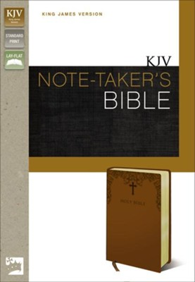 KJV Note-Taker's Bible, Italian Duo-Tone - Caramel   -