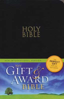 NIV Gift & Award Bible, Black, Leather-Look   -
