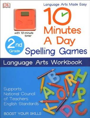 10 Minutes a Day: Spelling Games, Second Grade  -