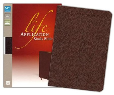 NIV Life Application Study Bible, Bonded Leather, Burgundy - Slightly Imperfect  -