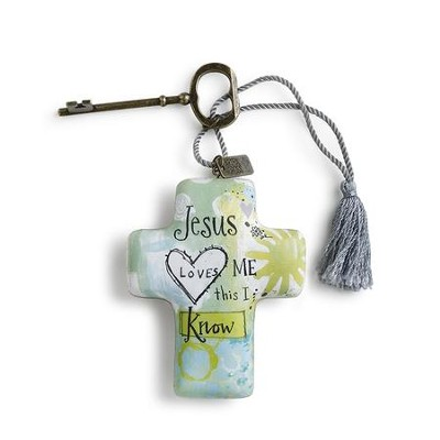 Jesus Loves Me This I Know, Artful Cross  -     By: Lori Siebert