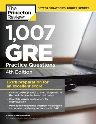 1,007 GRE Practice Questions, 4th Edition - eBook  -     By: Princeton Review