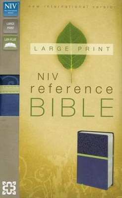NIV Reference Bible, Largeprint, Blueberry/Melon Green Duo-Tone  -