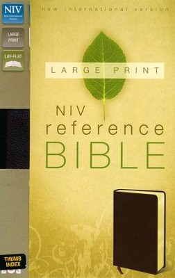 NIV Largeprint, Reference, Burgundy, Thumb-Indexed   -