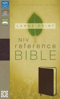 NIV Largeprint, Reference, Burgundy  -