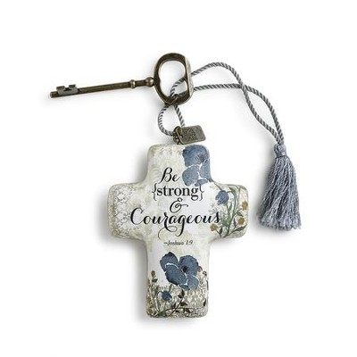 Be Strong & Courageous, Artful Cross  -     By: Christine Adolph